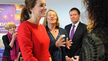 The Duchess of Cambridge at the Norfolk Showground to launch the East Anglia's Children's Hospices t