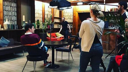 Sam Bird from Love Island was filming a new BBC3 reality show in The Library Restaurant Credit: The