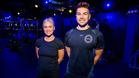 Sam Bird and operations manager Kimblerley Franklin at core Fitness in Norwich Credit: Reflection PR