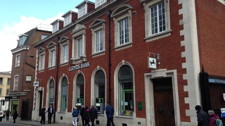 The former Lloyds Bank in Surrey Street. Photo: Chris Hill