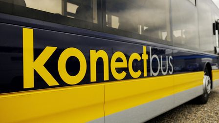 A Konectbus service between Norwich and Horning was disrupted due to a smashed vehicle window. Pictu