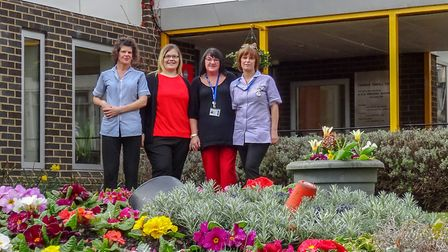 Members of staff at Thomas Tawell House in Norwich. Picture: Thomas Tawell House