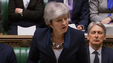 Prime Minister Theresa May updated MPs in the House of Commons, London, on the latest in the Brexit