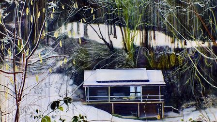 'The Winterkeeper's Cabin' by Lara Cobden who has been shortlisted for the Lynn Painter-Stainers Pri
