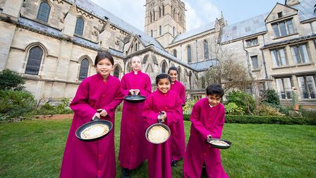 Young choristers from the Cathedral of St John the Baptist in Norwich have been warming up for their