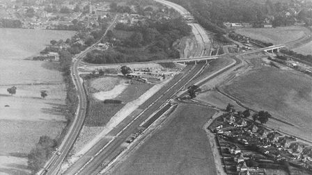 Aerial view of Acle bypass dated October 2 1988 Picture: Archant library