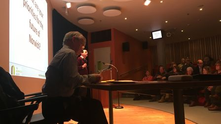 Future of Norwich debate held at The Forum in Norwich. PIC: Peter Walsh