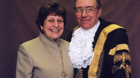 Derek and Brenda Wood pictured as The Lord and Lady Mayoress of Norwich. Picture: Archant