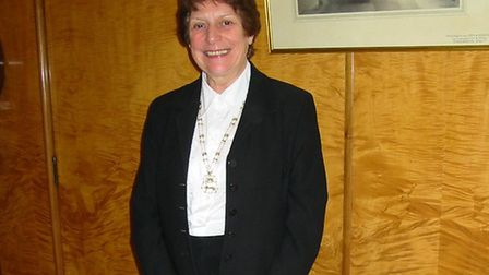Brenda Wood pictured as Lady Mayoress of Norwich. Picture: Archant