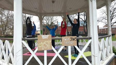 Yoga Stops Traffick charity event. Photo: Chloe Tucker