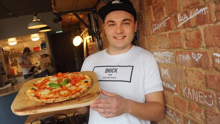 George Colley at the Brick Pizza. Picture: DENISE BRADLEY