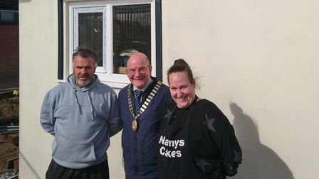 Town mayor John Fisher visits the new Sir George Morse Park cafe in Thorpe St Andrew, which will ope