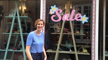 Irene Astley, Owner of Imelda's Shoe Boutique in the Norwich Lanes.