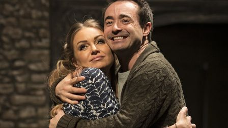 Rita Simons and Joe McFadden in The House On Cold Hill Credit: Helen Maybanks