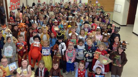 Dickleburgh C of E Primary Academy on World Book Day 2019. Photo: Dickleburgh C of E Primary Academy