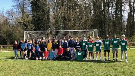 More than 80 students took part in a 24-hour football event to raise money for the Air Ambulance. Ph