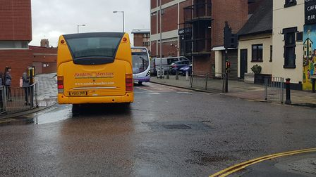 A Sanders bus on Edward Street. Picture: Archant