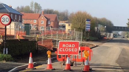 White Horse Lane is closed in Trowse. Picture: David Wakefield