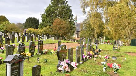 Police are working to stop flower thieves at Attleborough cemetery Picture: Nick Butcher