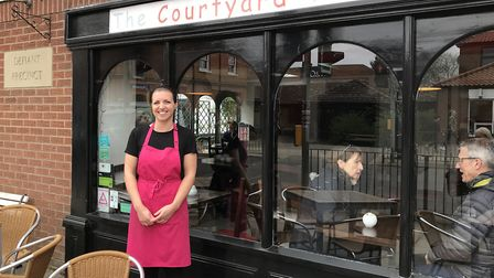 Jenny Price is the new owner of the hughly popular Courtyard Tearooms in Attleborough. Picture: Ella