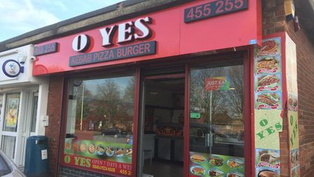 O Yes Kebab, on Dereham Road has been given a hygiene rating of four Picture: Staff