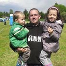 The late Jimmy Lain with his two children. PHOTO: Suzanne Jode