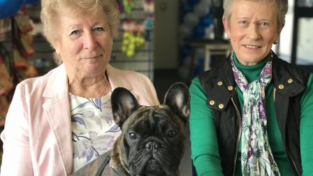 Margaret Jennings and Angie Canham have been taking their beloved pets to Taverham Vets since the pr