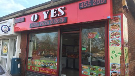O Yes Kebab, on Dereham Road has been given a hygeine rating of one. Picture: Staff