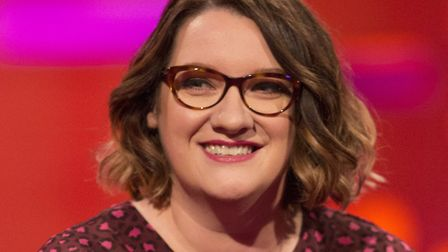 Sarah Millican during the filming of the Graham Norton Show at The London Studios, south London, to