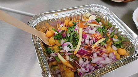 Food from Indian Fest on Norwich Market. Photo: Claudia Medrano