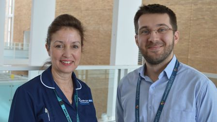 Karen Few and Raducu Clapuci who are working on the NeoCLEAR trial at the NNUH. Picture: Norfolk and