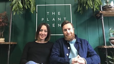 Michelle Clinghan and Roscoe Gibson-Denney owners of the newly opened Plant Den in Upper Saint Giles