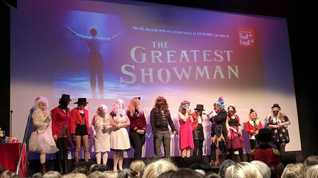 Fans dressed up for The Greatest Showman sing-a-long at Norwich Theatre Royal. Photo: Danielle Boode
