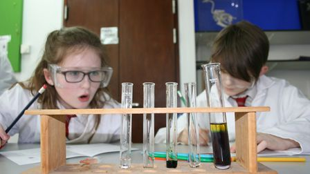 Pupils at Barnham Primary School experienced an explosive and magical day at Cambridge University fo