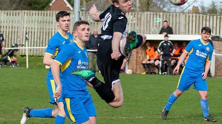 Ryan Pearson headed Swaffham Town into the lead against King's Lynn Reserves on Friday evening Pictu