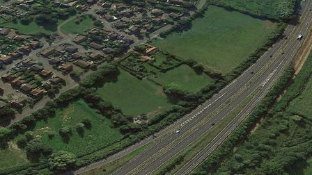 The development site next to the A11. Picture: Google
