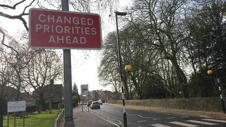 New priority rules on the junction of Surrogate Street and Connaught Roadi n Attlbeorough have cause