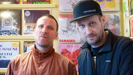 Band Sleaford Mods visited Soundlcash as part of Record Day. Photo: Steve Hunt
