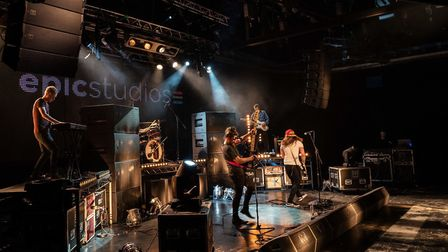 Blind Tiger performing live at Epic Studios for their music video. Picture: Supplied by Blind Tiger