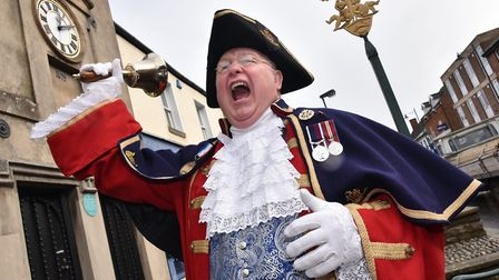 Watton town crier Mike Wabe. Byline: Sonya Duncan Copyright: Archant 2018