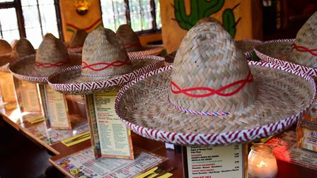 Sombreros laid out for a party at the former Pedro's in Chapelfield Gardens. Picture: Archant.
