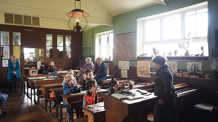 Headmistress Sally North speaking to the class at The Victorian School open day at Great Cressingham