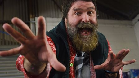 WWE World Champion Mick Foley in Norwich as he will be appearing in the Fightmare 3 wrestling event