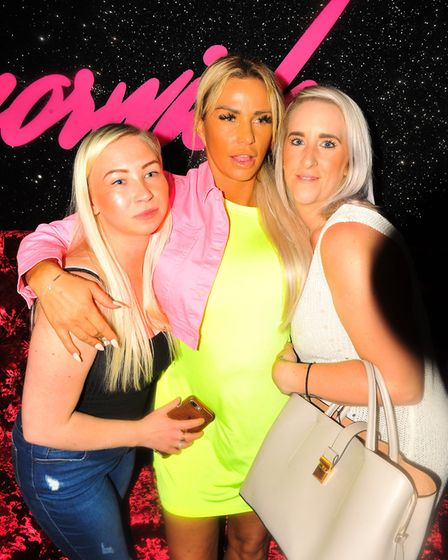 Katie Price at the new Fetch nightclub on Prince of Wales Road in Norwich. Picture Harry Rutter.