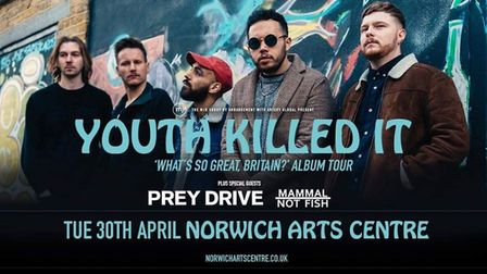 Youth Killed It Norwich Arts Centre poster. Picture: Supplied by Youth Killed It