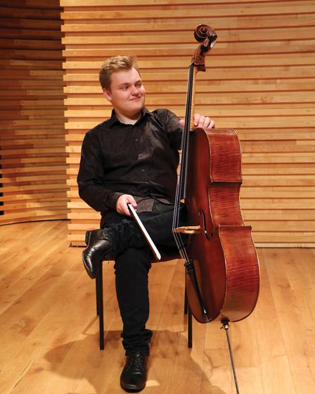 Teenage Gorleston cellist Maxim Calver, who was a BBC Young Musician of the Year finalist last year.