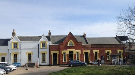 Work is almost complete to restore Attleborough station house. Picture: Greater Anglia