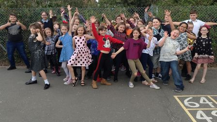 The pupils who took part in the talent show. Picture: Wayland Junior School