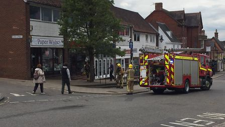 Fire crews have been called to Market Street in Wymondham. Picture: Debra Glover