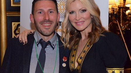Tristan Cork, Finnbar's Force, with TV personality Caprice Bourret, who suffered a brain tumour a fe